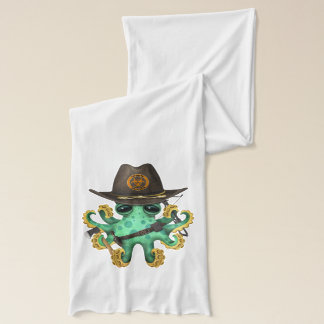 Green Baby Octopus Zombie Hunter Scarf
