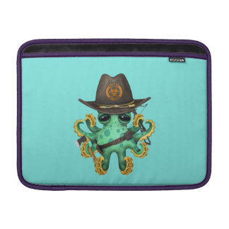 Green Baby Octopus Zombie Hunter Sleeve For MacBook Air
