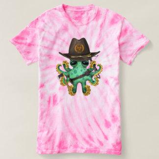 Green Baby Octopus Zombie Hunter T-shirt