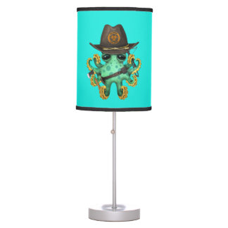 Green Baby Octopus Zombie Hunter Table Lamp