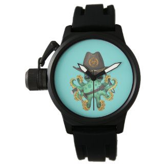 Green Baby Octopus Zombie Hunter Watch
