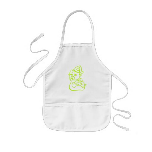 Green baby outline aprons