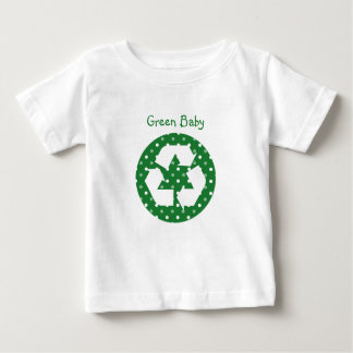 Green Baby Polka Dot Recycle Tees