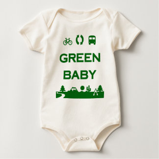 Green Baby Save Earth Stop Global Warming Organic Baby Bodysuit
