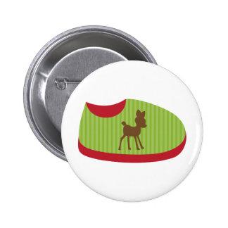 Green Baby Shoe Pin