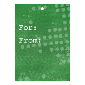 Green Background Gift Tags Business Card
