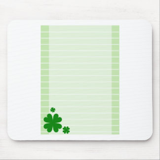 Green Background Mouse Pad