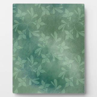 Green background plaque