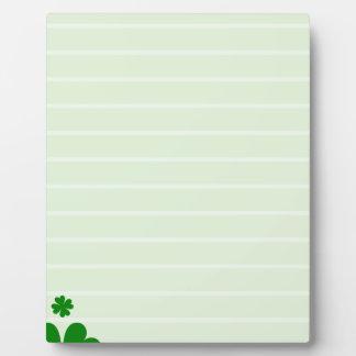 Green Background Plaque