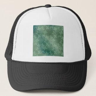 Green background trucker hat
