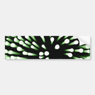 Green Bacteria Magnified Bumper Sticker