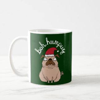 Green Bah Humpug Grumpy Santa Pug Mug