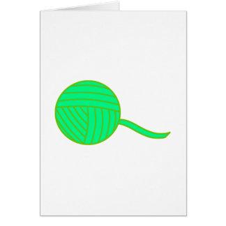 Green Ball of Yarn Card