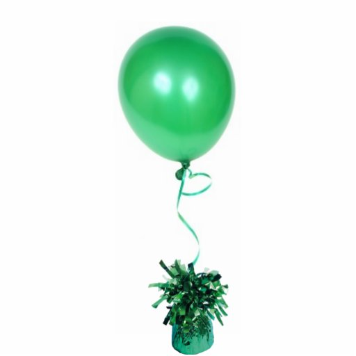 Green Balloon Ornament Cut Outs