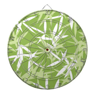 Green Bamboo Leaves Unique Pattern Dartboard