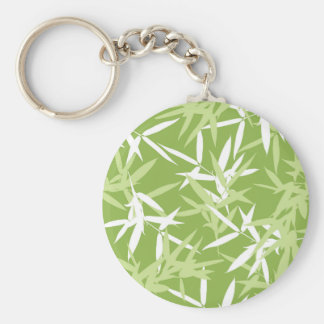 Green Bamboo Leaves Unique Pattern Keychain