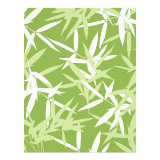 Green Bamboo Leaves Unique Pattern Letterhead