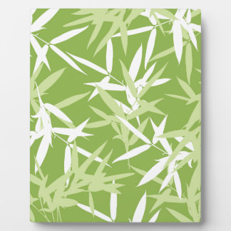 Green Bamboo Leaves Unique Pattern Plaque