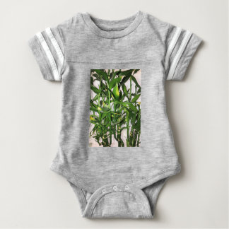 Green bamboo shoots and leaves baby bodysuit