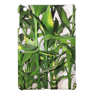 Green bamboo shoots and leaves cover for the iPad mini