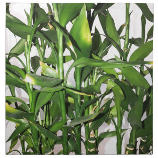 Green bamboo shoots and leaves napkin