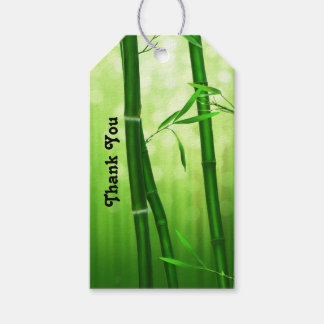 Green Bamboo Thank You Pack Of Gift Tags