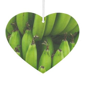 Green banana fruit pattern air freshener