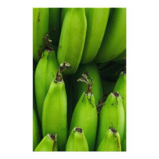 Green banana fruit pattern stationery