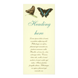 Green-banded Swallowtail Butterfly, Rack Card