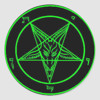 Green Baphomet Stickers
