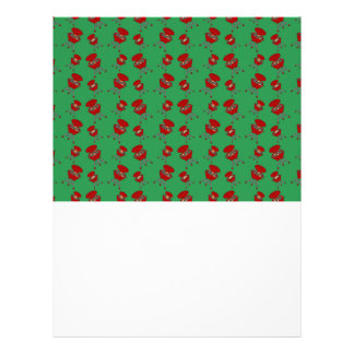 green barbeque pattern flyer design