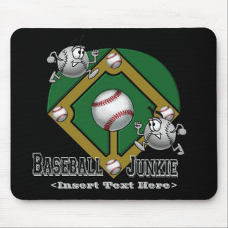 Green Baseball Cartoon Mouse Pad
