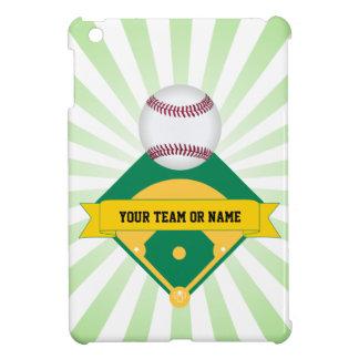 Green Baseball Field with Custom Team Name iPad Mini Covers