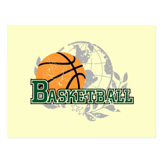 Green Basketball Tshirts and Gifts Postcard
