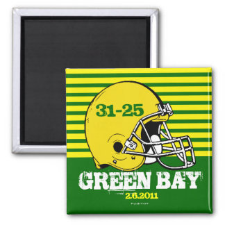 Green Bay Show Off Scores Football Champs Magnet