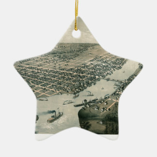 Green Bay Wisconsin 1867 Ceramic Ornament