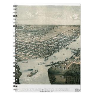 Green Bay Wisconsin 1867 Notebook