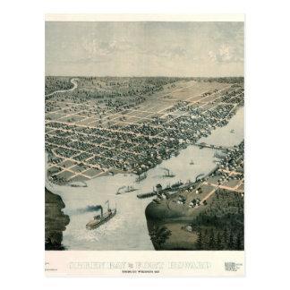 Green Bay Wisconsin 1867 Postcard
