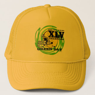 Green Bay XLV Football Champions Yellow Hat