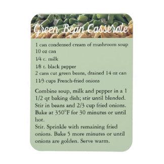 """""""Green Bean Casserole"""" Recipe Magnet Fridge"""