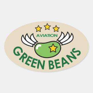 GREEN BEANS AVIATION OVAL STICKER