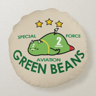 GREEN BEANS AVIATION ROUND PILLOW