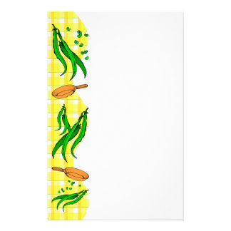 Green Beans Frying Pan Retro Kitchen Stationery