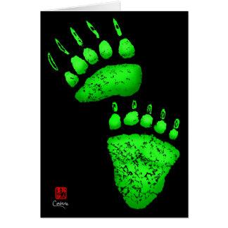 "Green Bear Paws - 5"" x 7"" Art Card"