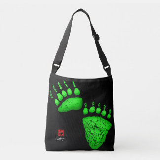 Green Bear Paws - Medium Cross Body Tote