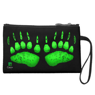 Green Bear Paws - Sueded Mini Clutch