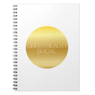 Green Beauty Bridal Logo Notebook