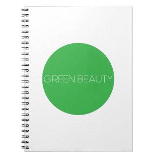 Green Beauty Logo Notebook