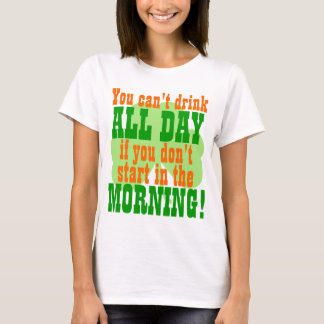 Green Beer Day Drinking Humor T-Shirt