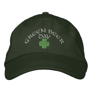 Green beer day St Patrick's Embroidered Hat